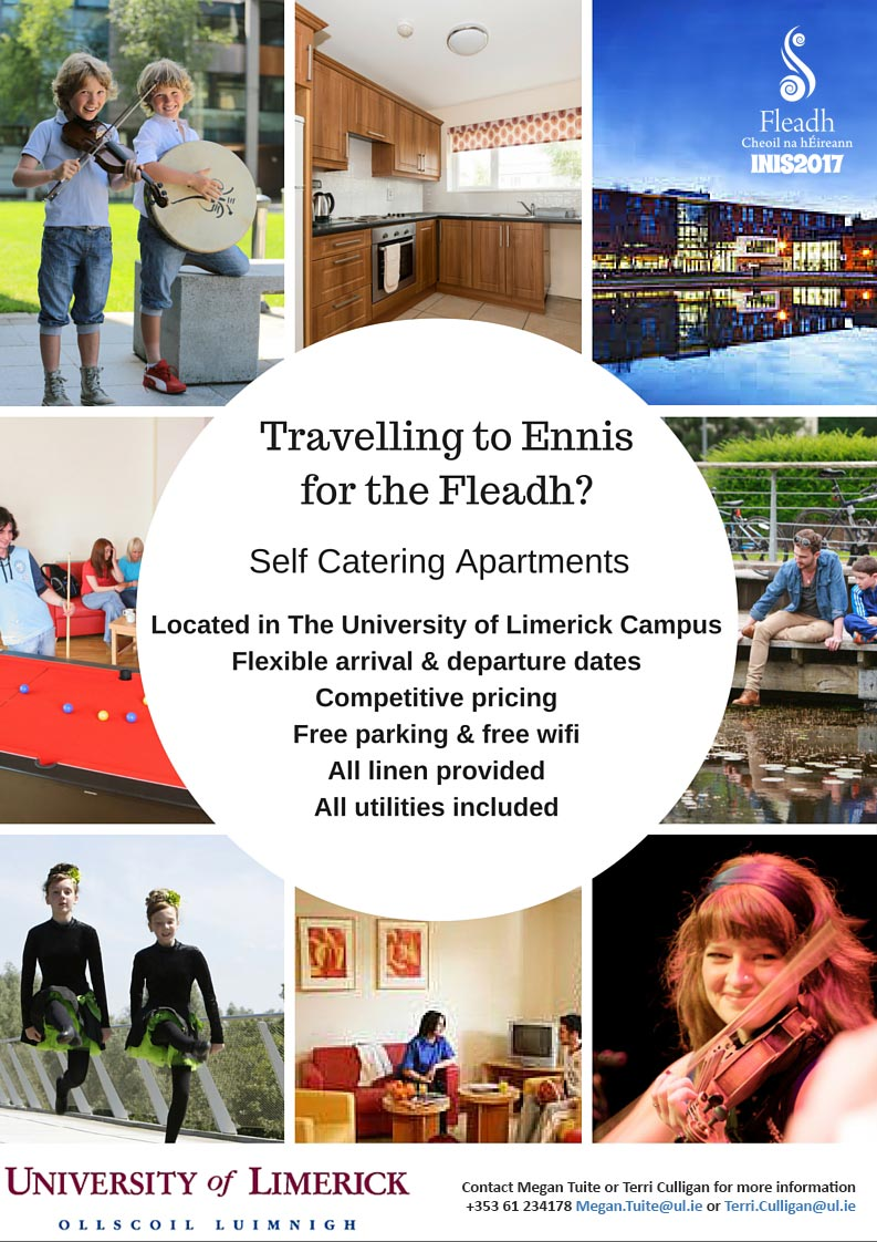 Self Catering Apartments Located in The University of Limerick Campus